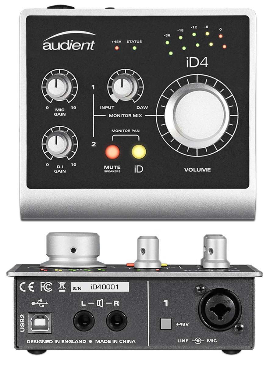 Focusrite Scarlett 2i2, USB audio interface
