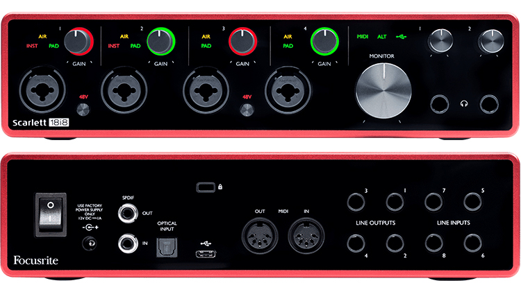 Focusrite Scarlett1818, USB audio interface