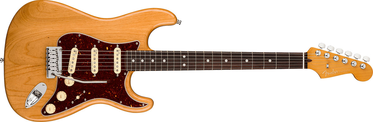 American Ultra Stratocaster  Rosewood Fingerboard, Aged Natural