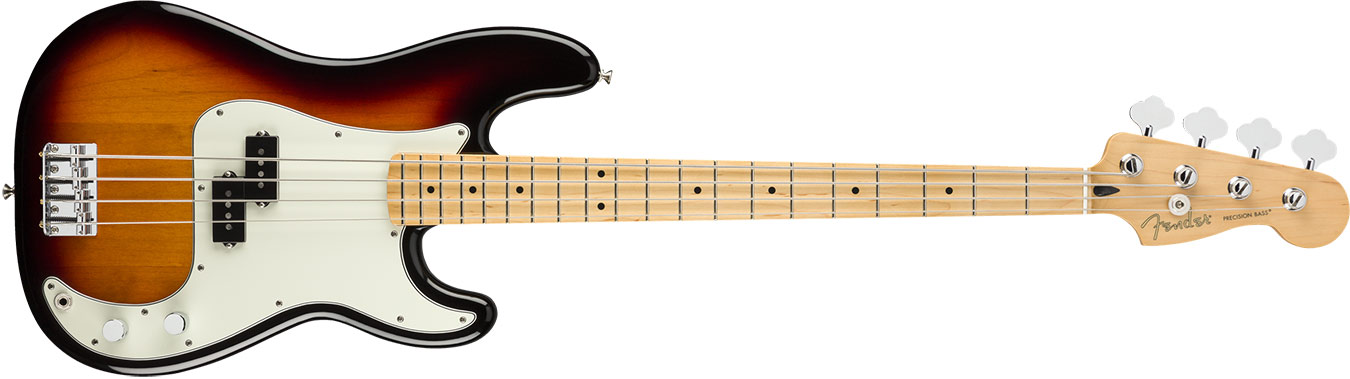 Fender Player Precision Bass, Maple Fingerboard, 3-Color Sunburst