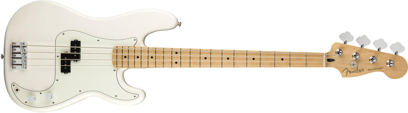 Fender Player Precision Bass, Maple Fingerboard, Polar White