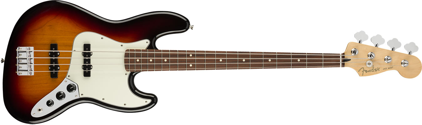 Fender Player Player Jazz Bass, Pau Ferro Fingerboard, 3-Color Sunburst