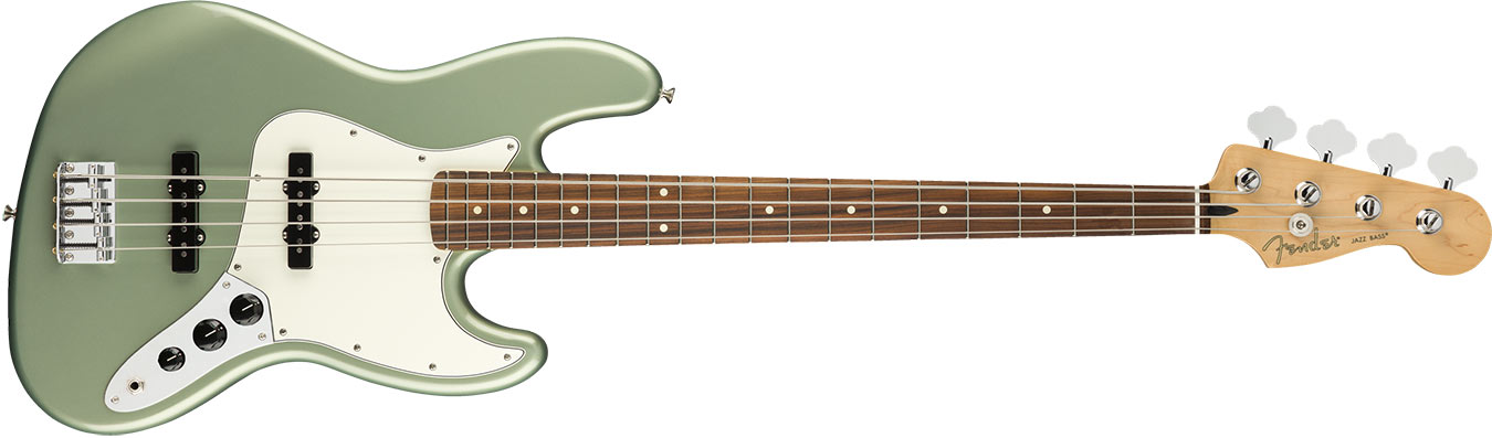 Fender Player Player Jazz Bass, Pau Ferro Fingerboard, Sage Green Metallic