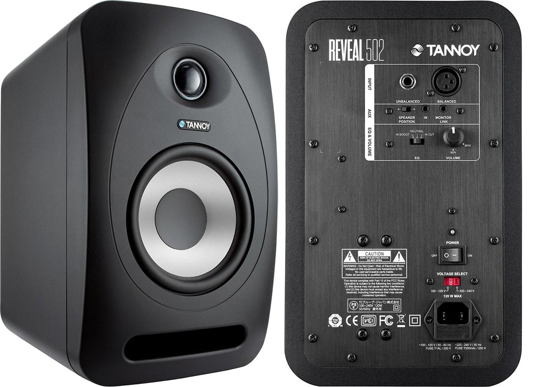 Tannoy Reveal 502 Powered Studio Monitors  (pair)