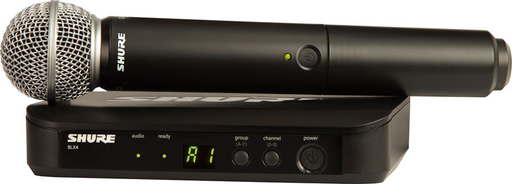 Shure BLX24R/SM58 Wireless System with handheld SM58