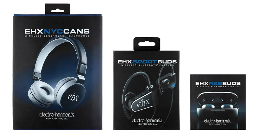 EHX blue tooth phones and earbuds